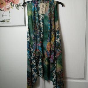 FLEUR de LIS mult colored knit duster